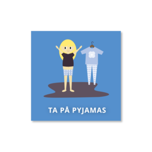 Ta på pyjamas